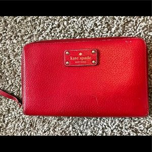 Kate Spade Large Red Wallet (Used)